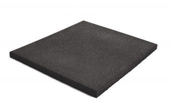Piso de caucho compactado para weithlifting con densidad de 40mm (60cm x 60cm)