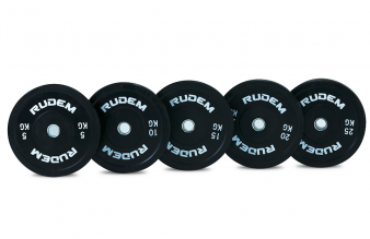 RUDEM Black Virgin training rubber bumper plates