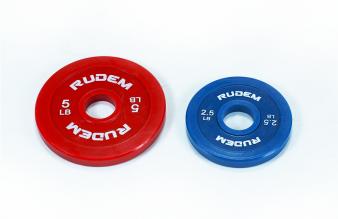 RUDEM CHANGE PLATES - DISCOS DE GOMA 2.5 Y 5LB