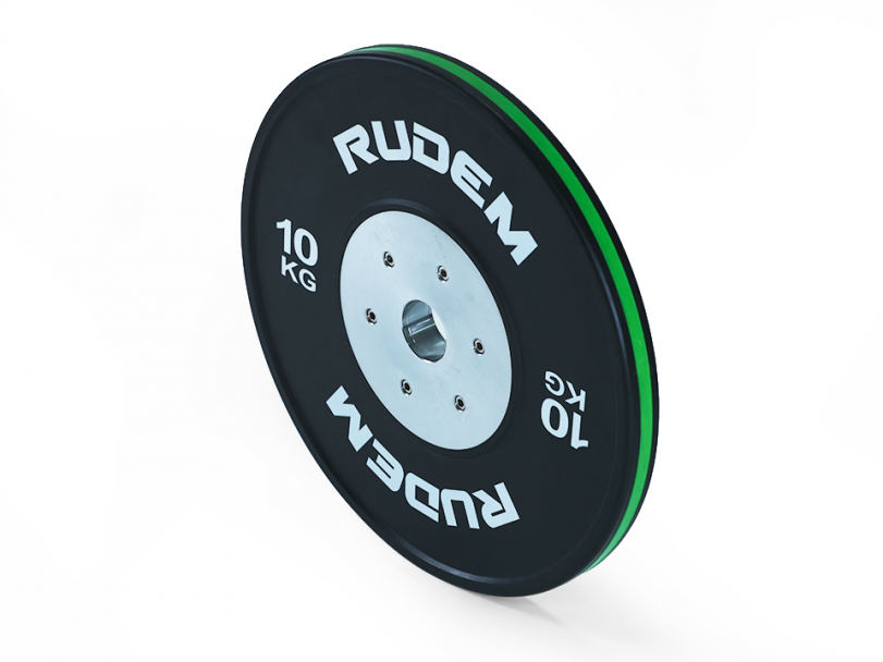RUDEM Competition Bumpers Plates with colour strip-10KG