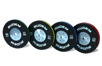 RUDEM Competition Bumpers Plates with colour strip