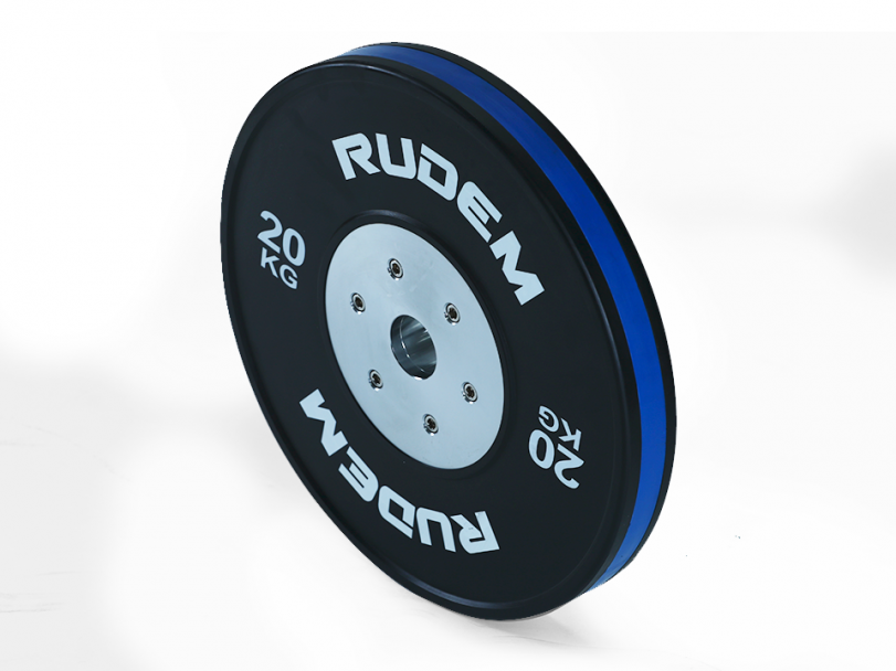 RUDEM Competition Bumpers Plates with colour strip-20KG