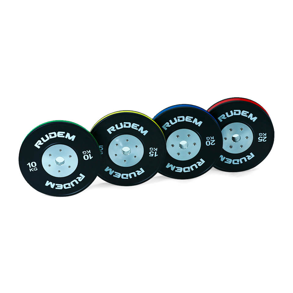 Competition Bumpers Plates With Color Strip