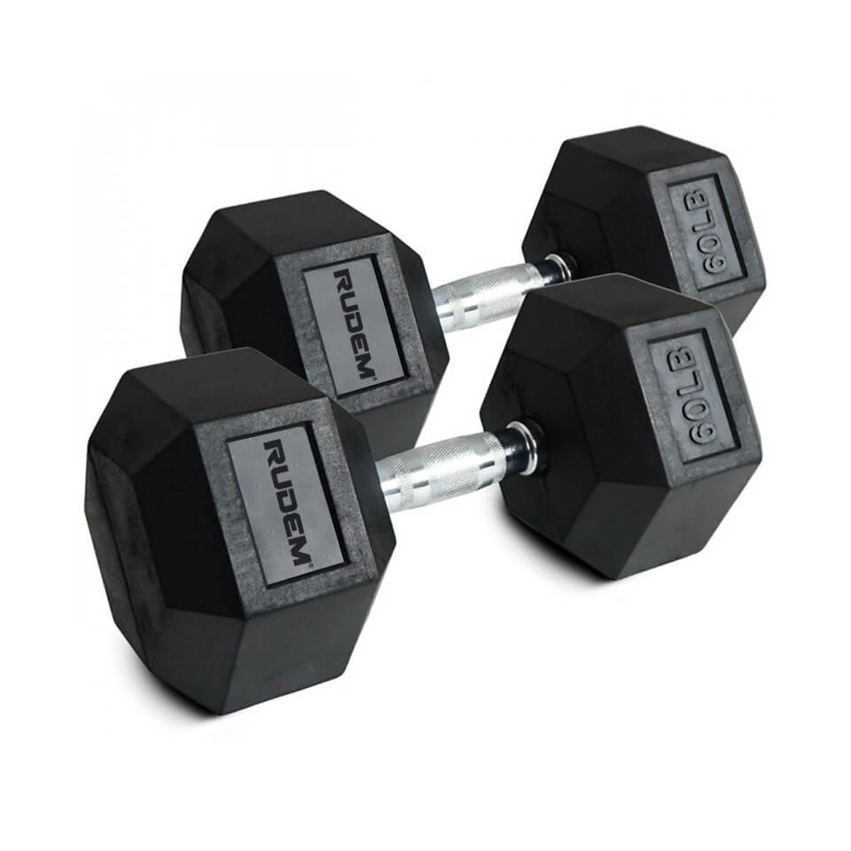 Dumbbell / Mancuerna Hexagonal 60LB