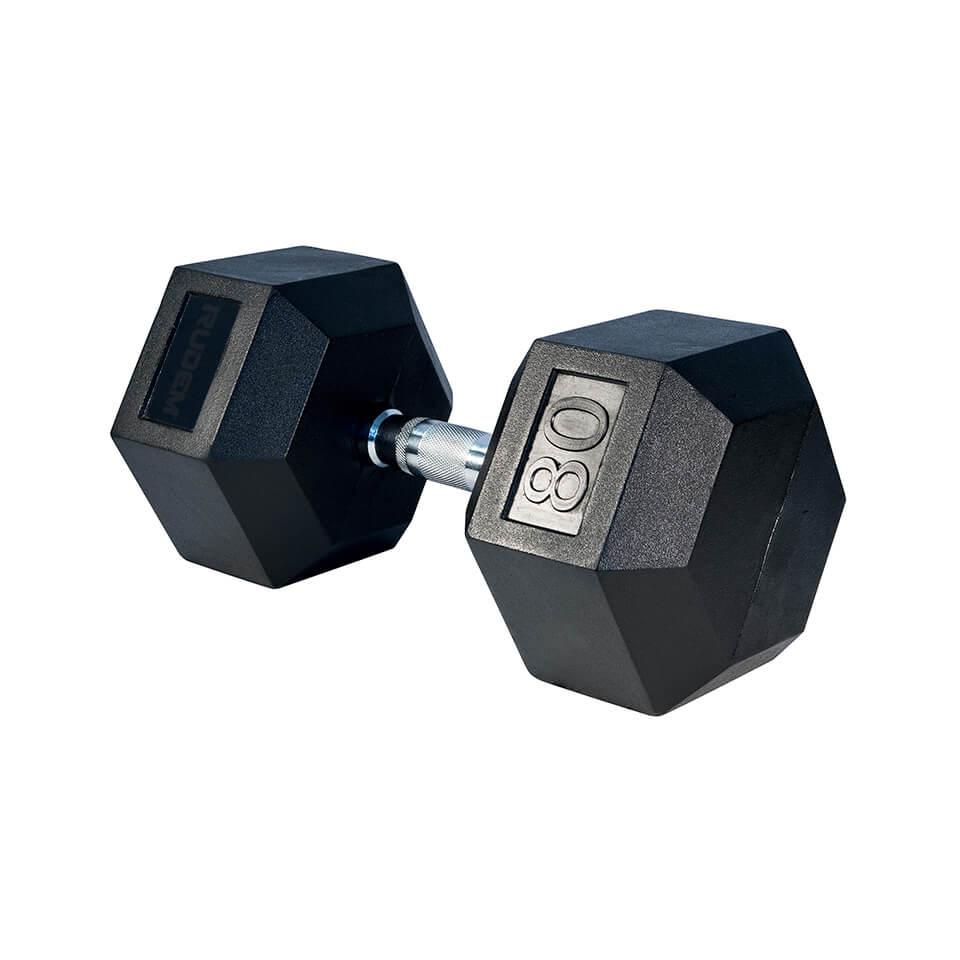 Dumbbell / Mancuerna Hexagonal 80LB